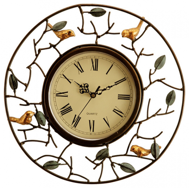 Bird Wall Clock - Eclectic - Wall Clocks - atlanta - by Iron Accents