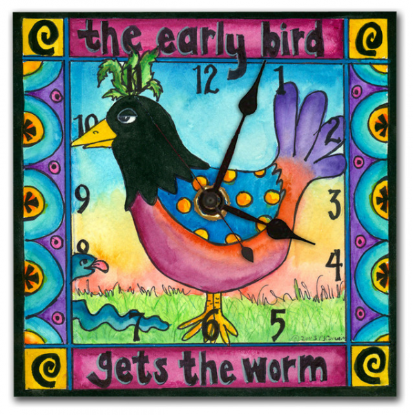 Early Bird Wall Clock - Eclectic - Wall Clocks - other metro - by ...