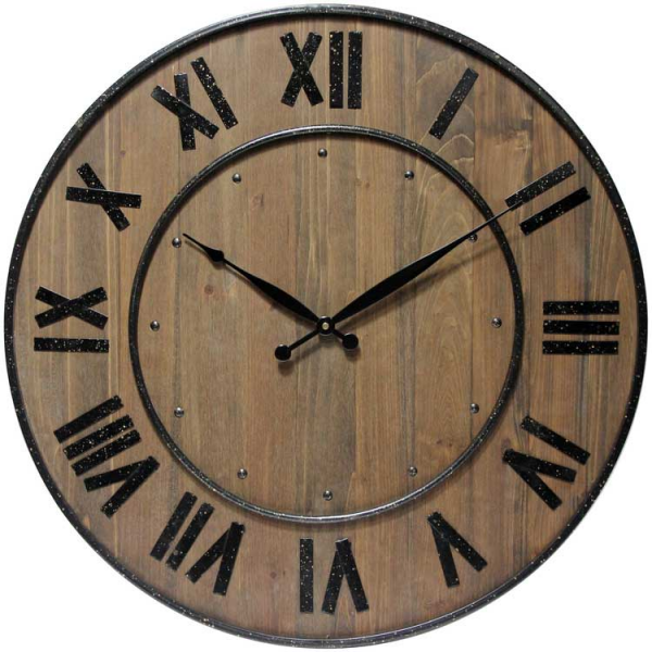 Wine Barrel 24 Wall Clock by Infinity Instruments - 24 Wall Clocks