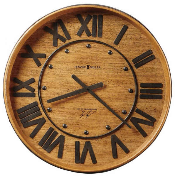 Ty Pennington Clocks Wine Barrel Wall Clock by Ty Pennington - Wolf ...