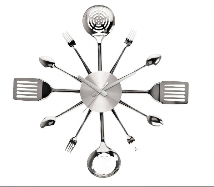 kitchen utensil wall clock by thelittleboysroom | notonthehighstreet ...