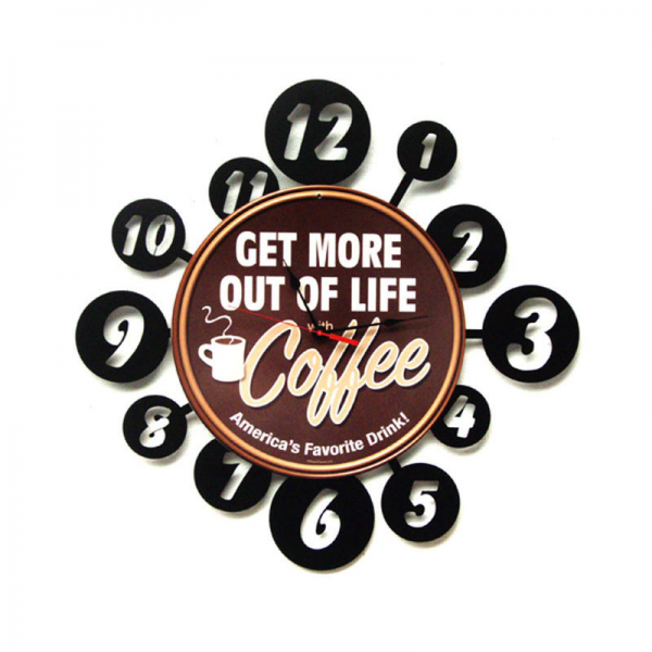 Coffee Life Layered Metal Wall Clock 24 x 24 Inches