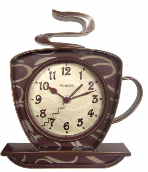 for coffee kitchen accessories the coffee mug quartz wall clock ...