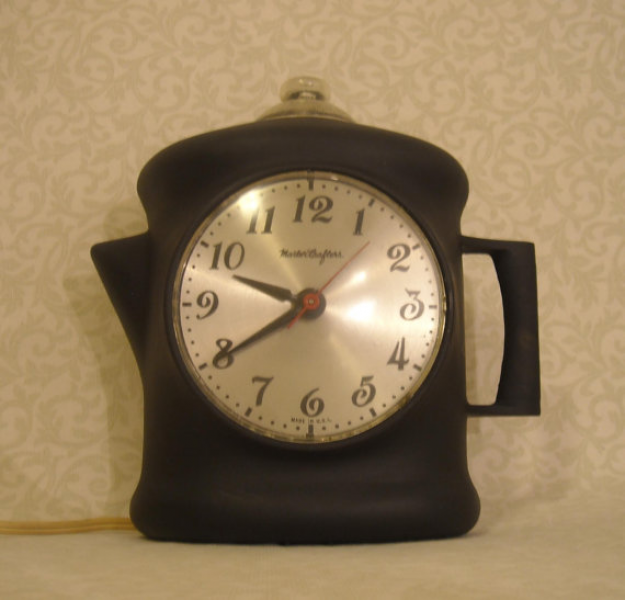 MasterCrafters Coffee Pot Wall Clock by FineRomance on Etsy