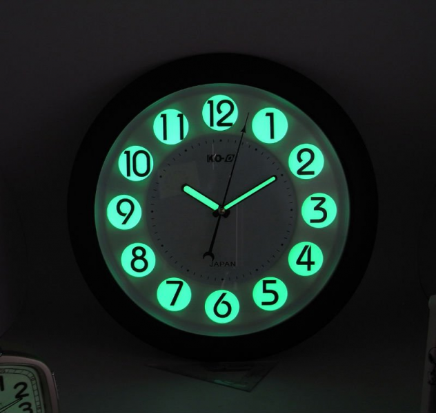 ... -Inch Round Glow-In-the-Dark Wall Clock - Luminous Digital Wall Clock