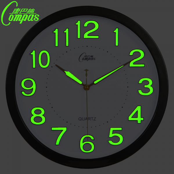 inch glow in the dark wall clock modern design with mute quartz clock ...
