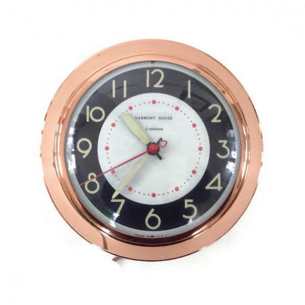 ... Glow on the Dark Dial and Hands-Electric-Wall Clock-Vintage Kitchen