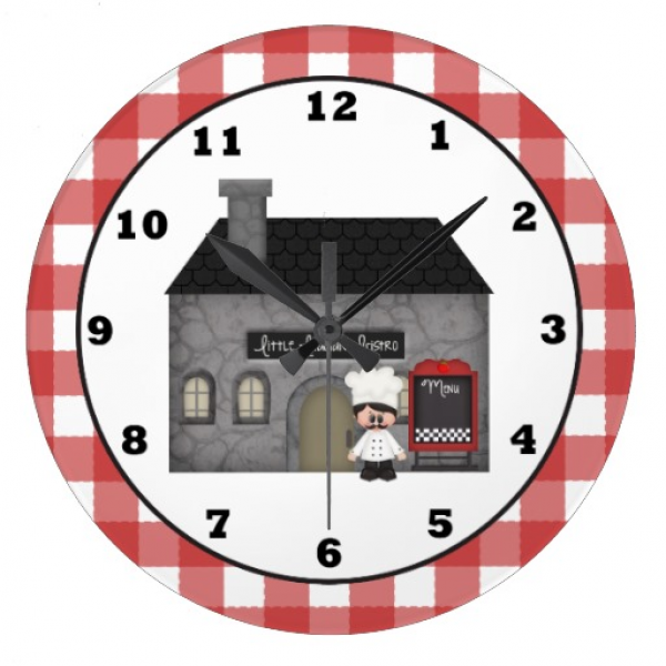 Italian Bistro Chef wall clock | Zazzle