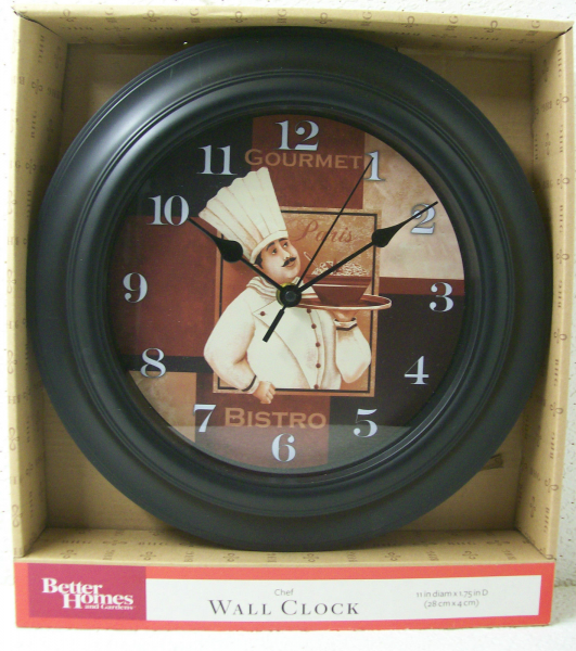 FAT CHEF GOURMET, PARIS, BISTRO Collectible Kitchen WALL CLOCK New ...