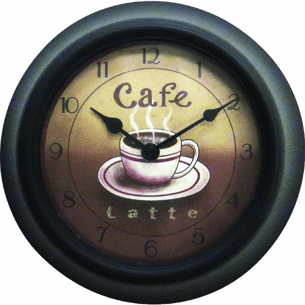 Geneva Clock Company 4804G Cafe Plastic Wall Clock at ...