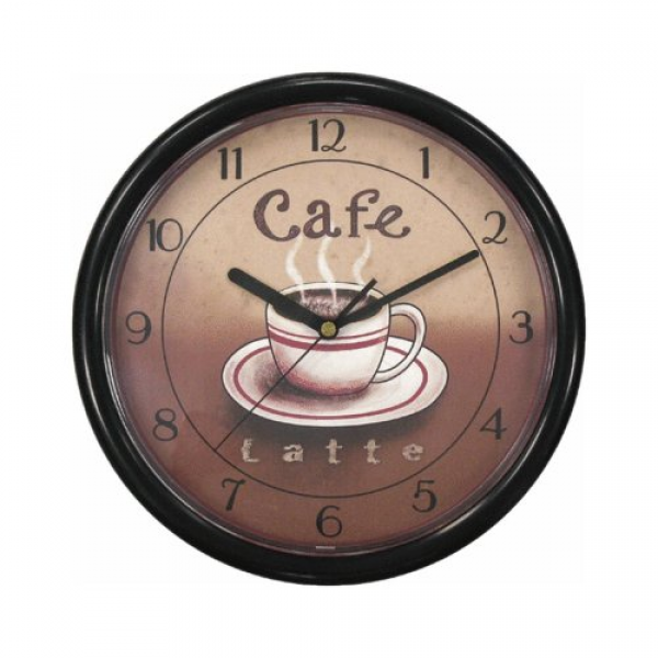 Geneva Clock Co 8125 Cafe Plastic Wall Clock