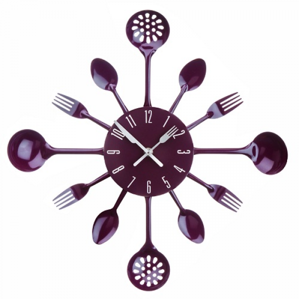Kitchen-Cutlery-Design-Wall-Clock-Spoon-Fork-Ladle-Utensil-Design ...