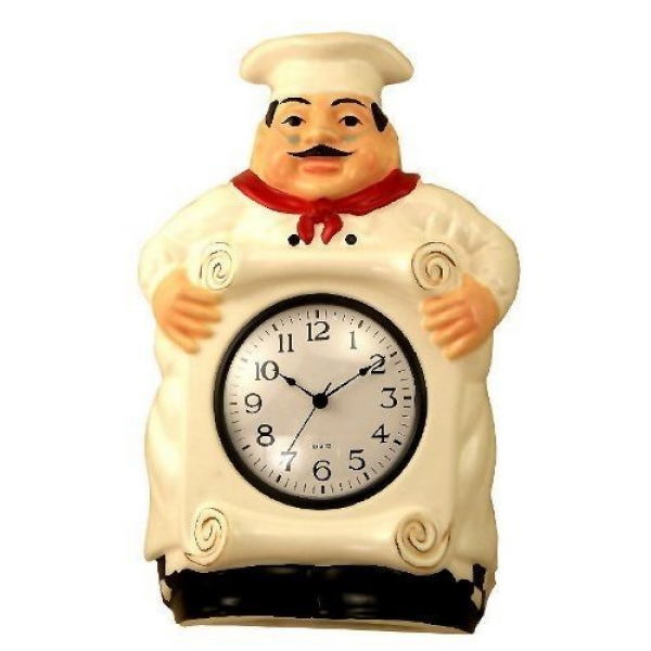 Fat Chef Kitchen Decor Fat Chef Wall Clocks