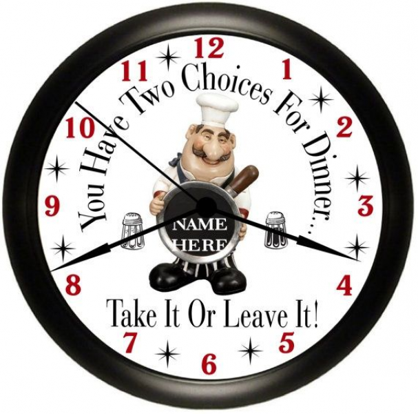 Personalized Fat CHEF Kitchen Wall Clock | Things I Need/Want (same t ...