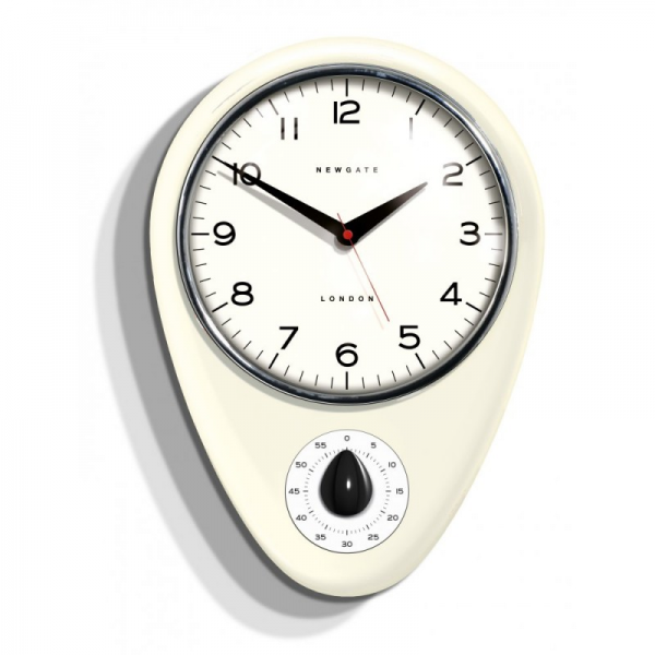 Clocks Discovery Kitchen Timer Wall Clock Linen White kitchen wall ...