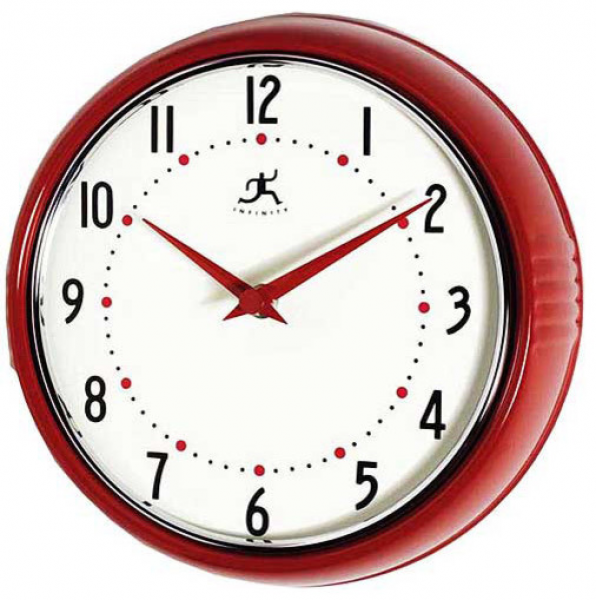 Retro Red Wall Clock - Modern - Clocks - by Walmart