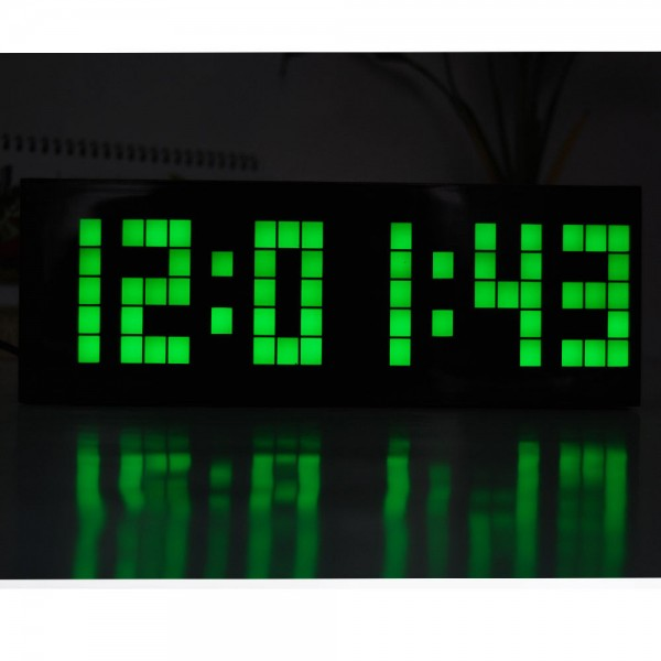 ... Clocks > Digital Large Big Jumbo Led Snooze Wall Desk Alarm Clock