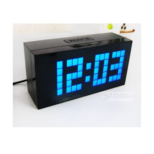 ... Clocks > Digital Large Jumbo Led Snooze Wall Desk Alarm Calendar Home
