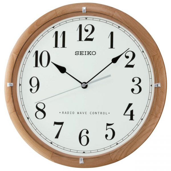 Seiko Wooden Radio Controlled Wall Clock