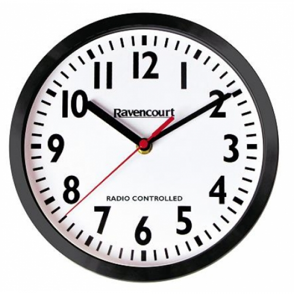 Ravencourt 10 Radio Controlled Large Print Wall Clock