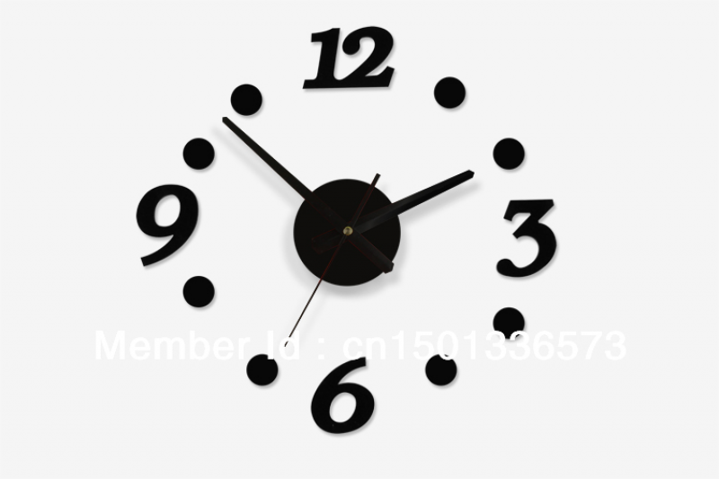 DIY-CLOCK-Design-Art-Foam-Sponge-Digit-Wall-Clock-Number-Clock-acrylic ...
