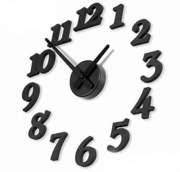 DIY Design Art Foam Sponge Digit Wall Clock Black by Home - Clock. $9 ...