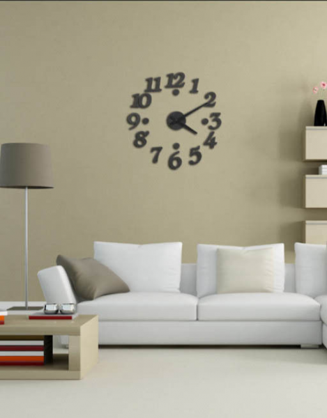 3D Wall Clocks DIY Design Digital Watch Wall Sticker Clock Home Décor ...