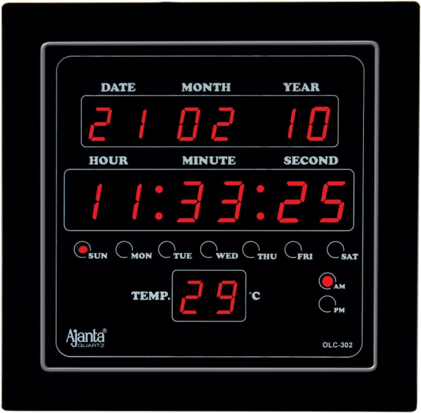 Ajanta LED Digital Wall Clock - OLC-302
