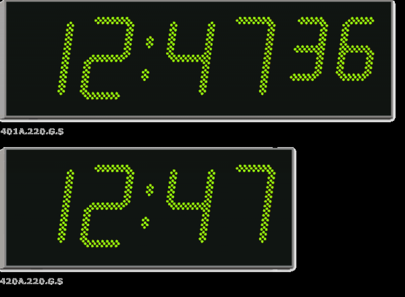 Large digital wall clock | large commercial digital clocks