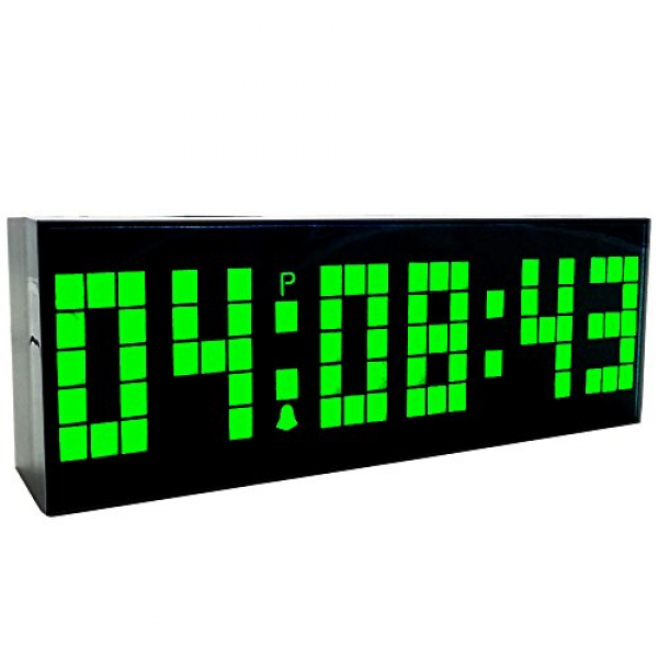 ... Led Clock Wall Alarm Digital Calendar Clock Count Down Timer(green