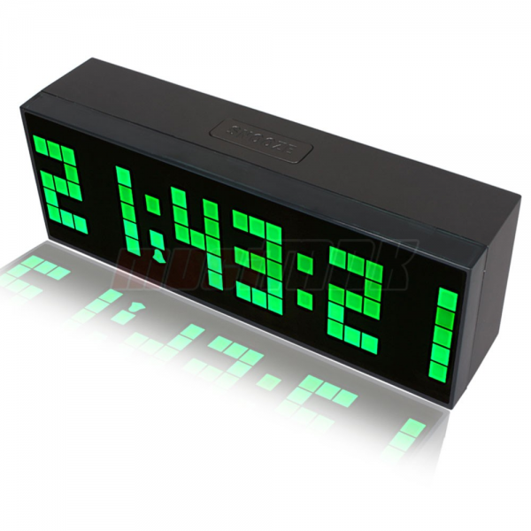 ... Digital LED Alarm Clock snooze desk wall calendar weather Green | eBay