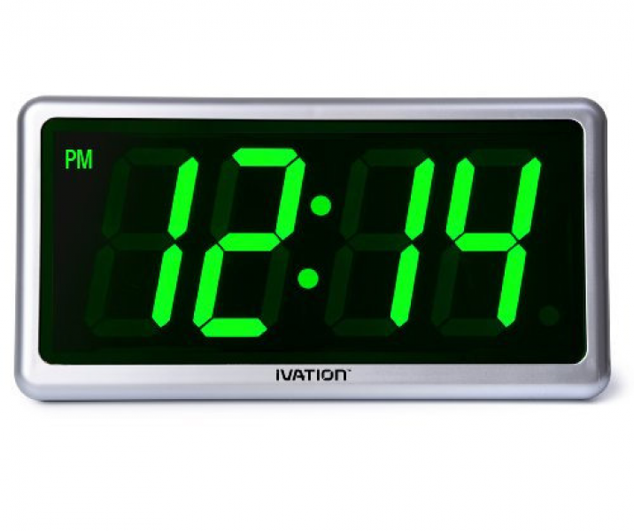 Green digital wall clock digital wall clocks www top clocks com - Digital illuminated wall clocks ...