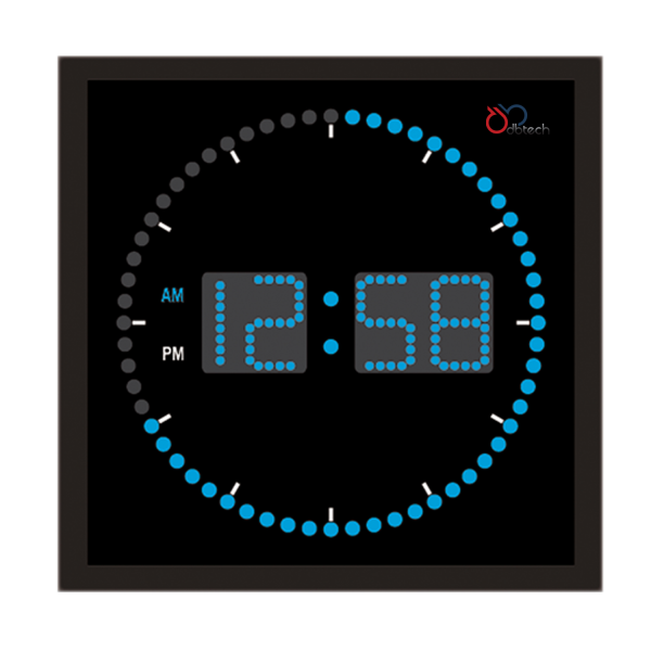 ... Big Amp Large Digital LED Clock w Circling LED Second Indicator | eBay