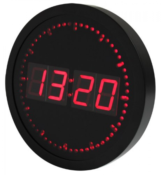 Big Digital LED Clock with Circling LED Second Indicator | Round Shape ...