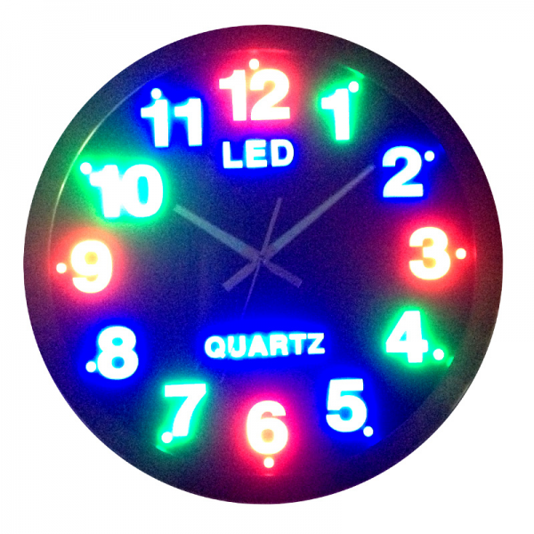 Aliexpress.com : Buy circle led wall clock plug in digital mute clock ...