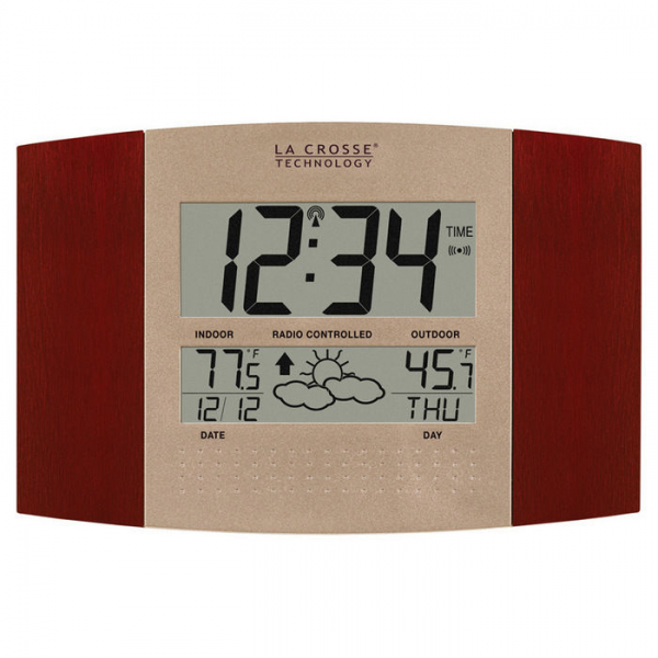 La Crosse Atomic Digital Wall Clock with Forecast & Weather—Buy Now!