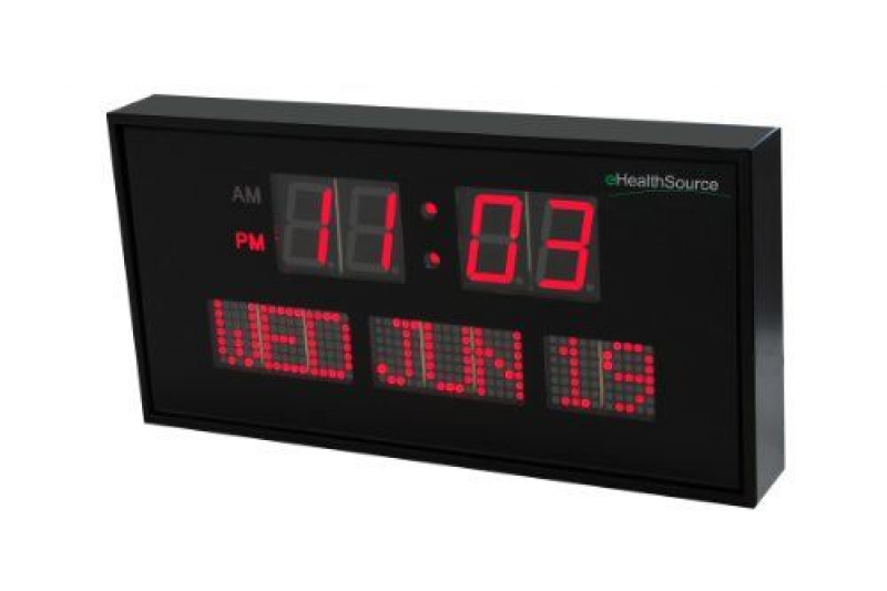 Friday 2014 eHealthSource Big Oversized Digital Red LED Calendar Clock ...