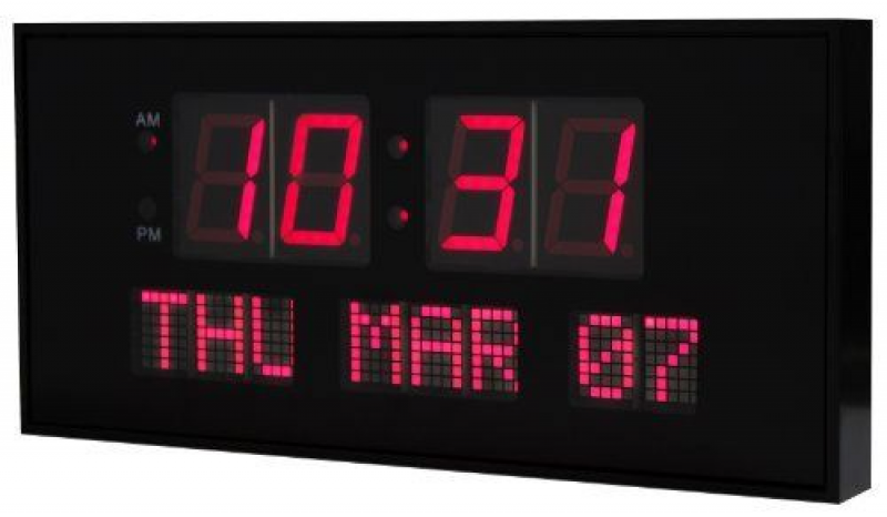 eHealthSource Digital LED Calendar Clock, 15 3/4 Day and Date | Large ...