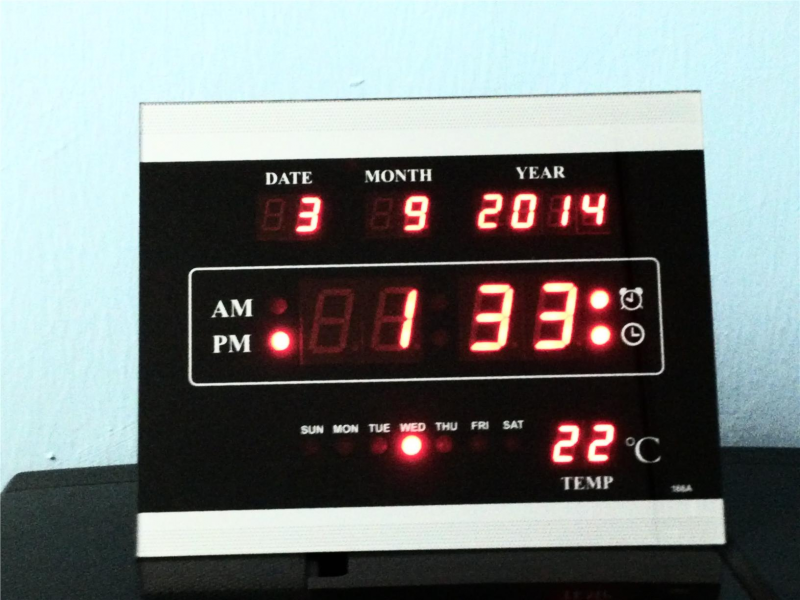 Digital Red LED Wall Clock (Selangor, end time 10/8/2014 3:15:00 PM ...