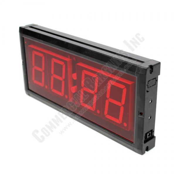 Large Oversized LED Red Digital Wall Clock Military Time Industrial ...