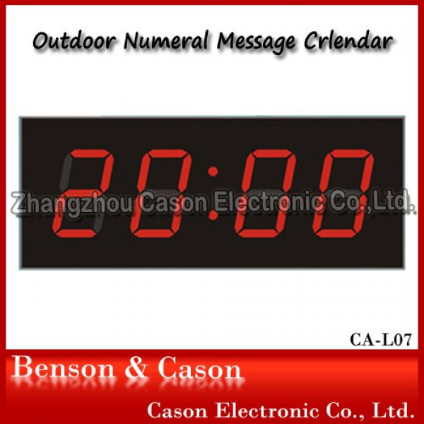 Big Red Digital LED Wall Clock Outdoor Clock