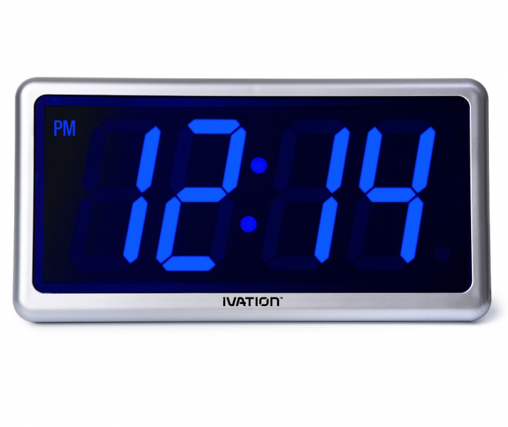 Ivation-Big-Time-Digital-LED-Clock-Table-or-Wall-Clock-Dimmable-LED ...