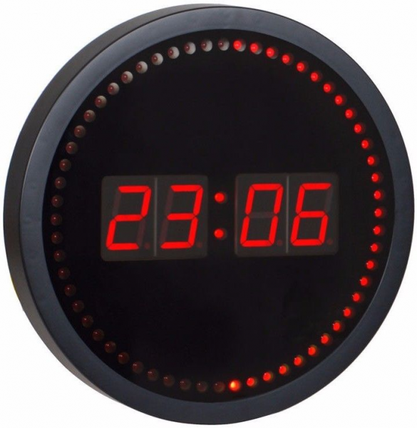 Red led wall clocks digital wall clocks www top clocks com Digital led wall clock