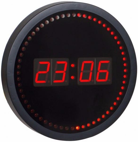 Red led wall clocks digital wall clocks www top clocks com Digital led wall clock