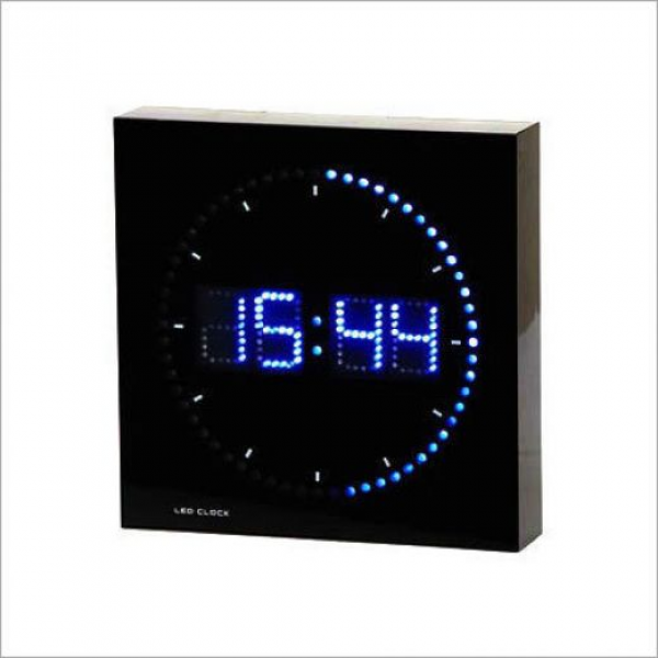 Blue LED Digital Wall Clock