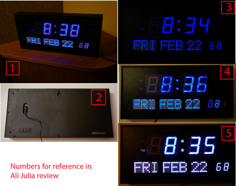 ... LED) DBTech Big Oversized Digital Red LED Calendar Clock with Day Date