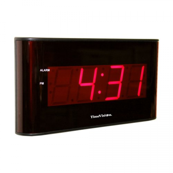 Inexpensive Night Vision: Large Display LED Wall Clock by Sper
