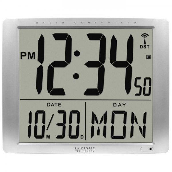 La Crosse Atomic Digital Wall Clock - Day and Date Display—Buy Now!