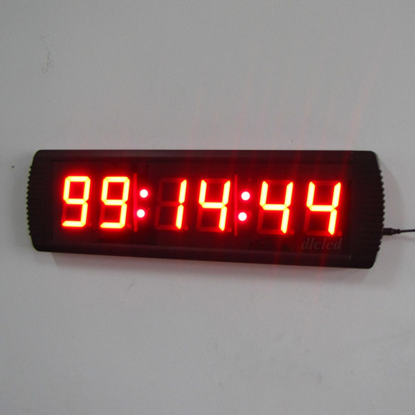 LED Digital Wall Clock Hours Minutes Seconds Format, LED Wall Clock ...