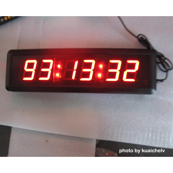 Large LED Digital Wall Clock Hours Minutes Seconds format Support ...